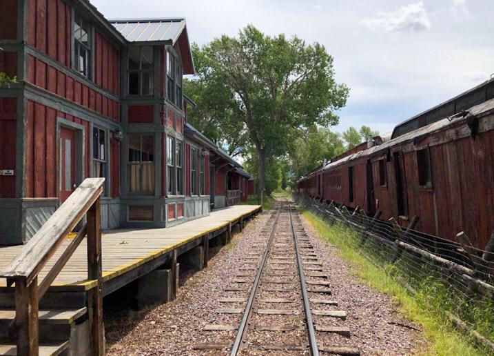 virginia e nevada city treno storico montana usa