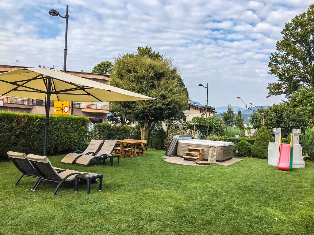 Il giardino relax dell'Hotel Daniela