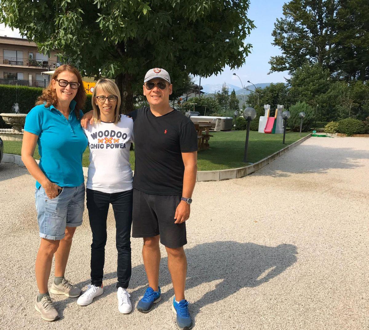 Io e Roberto con Michela, anima e cuore dell'Hotel Daniela