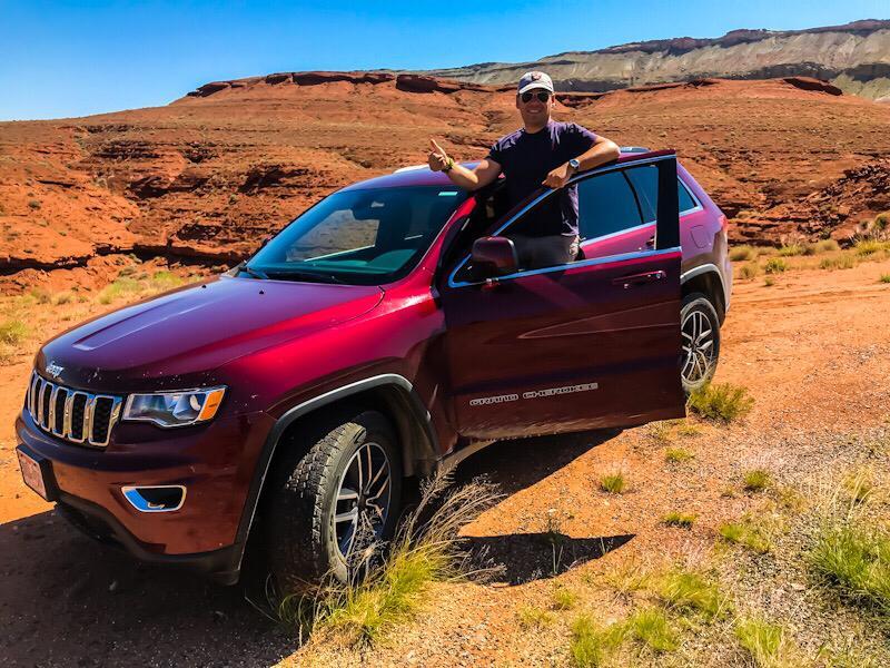 """Roberto nel Bighorn Canyon nel Wyoming con la """"sua"""" Jeep"""