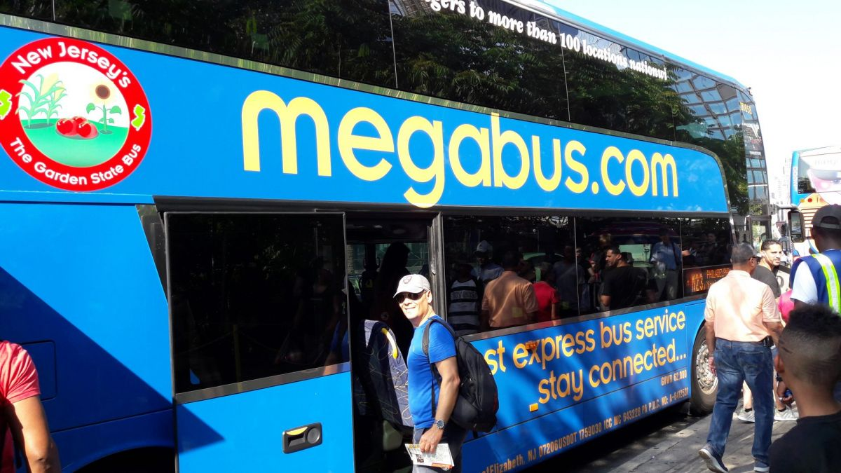 Il Megabus in partenza da New York