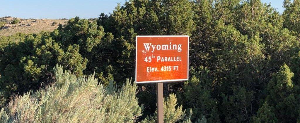 Il Bighorn canyon in Wyoming negli Stati Uniti d'America