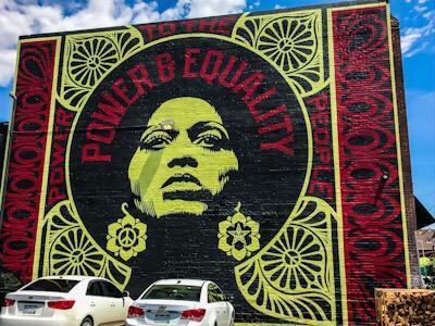 street art a denver colorado usa Obey Giant