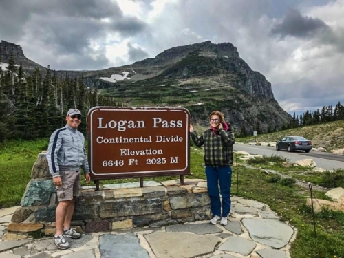 Glacier NP in Montana: Logan Pass
