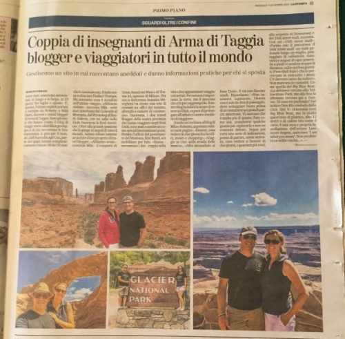 Elisir di lungo viaggio su La Stampa del 4/9/2019