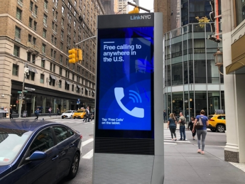 Colonnina Wi-Fi a New York