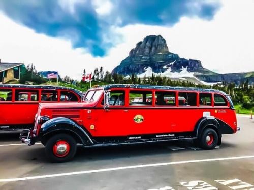 Red Bus al Glacier NP nel Montana