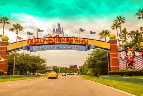 l'ingresso a Walt Disney World ad Orlando Florida